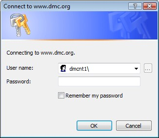 dmc network password prompt