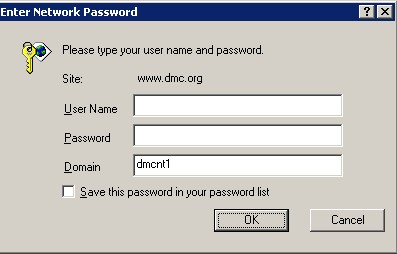 dmc password prompt